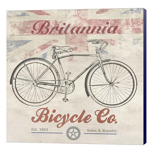 Metaverse Art UK Bikes Canvas Wall Art