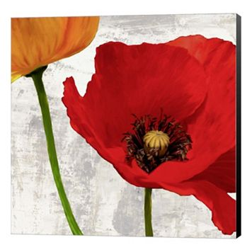 Metaverse Art Summer Poppies I Canvas Wall Art