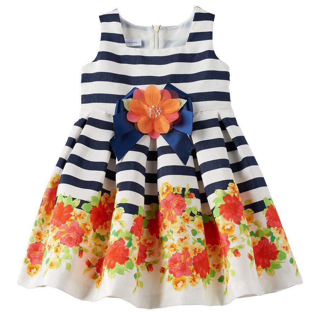 Toddler Girl Bonnie Jean Striped Floral Dress