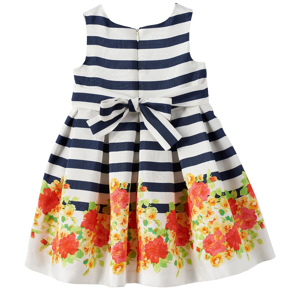 Toddler Girl Bonnie Jean Striped Floral Dress