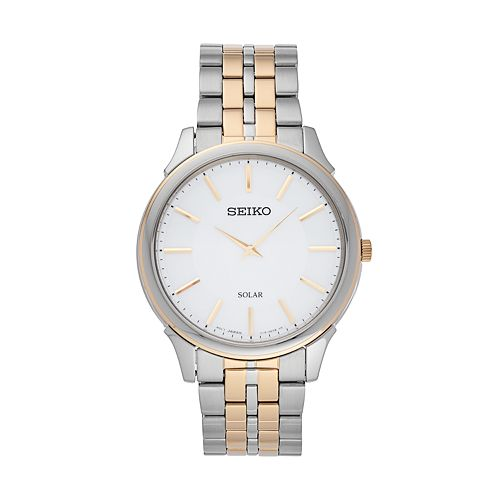 Seiko Men's Core Two Tone Stainless Steel Solar Watch - SUP864