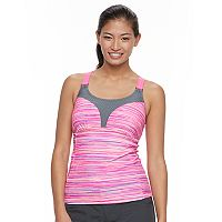 Women's Free Country Striped Racerback Tankini Top