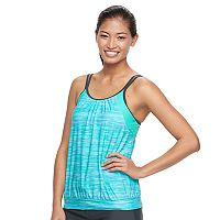Women's Free Country 2-in-1 Blouson Tankini Top