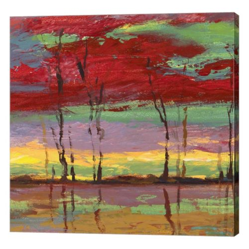 Metaverse Art Tramonto sul Bosco II Canvas Wall Art