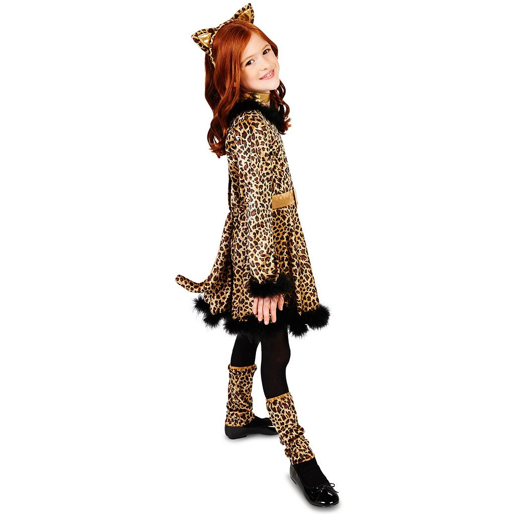 Kids Bold Leopard Dress Costume