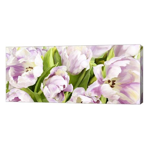 Metaverse Art Tulipes en Fleur Canvas Wall Art