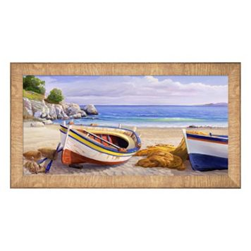 Metaverse Art Pomeriggio Mediterraneo I Framed Canvas Wall Art