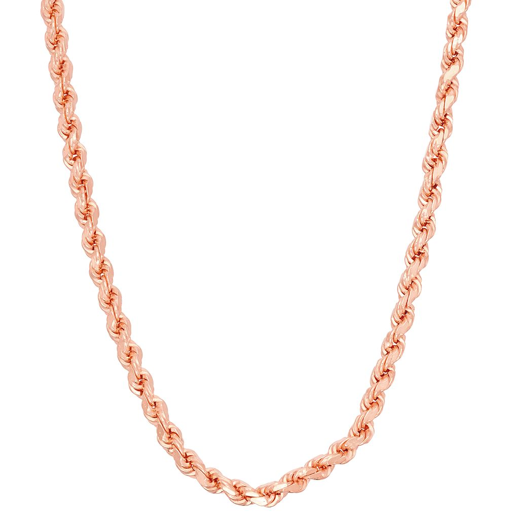 Sterling Silver Rope Chain Necklace - 16 in.