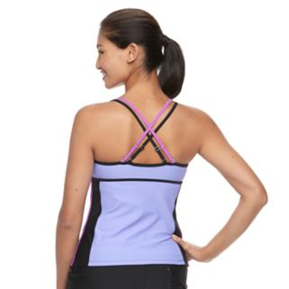 Women's Free Country Colorblock Double-Strap Tankini Top