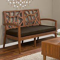 Baxton Studio Jennifer Modern Loveseat Bench
