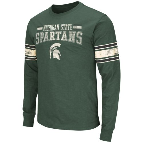 Men's Campus Heritage Michigan State Spartans Gridiron Long-Sleeve Tee