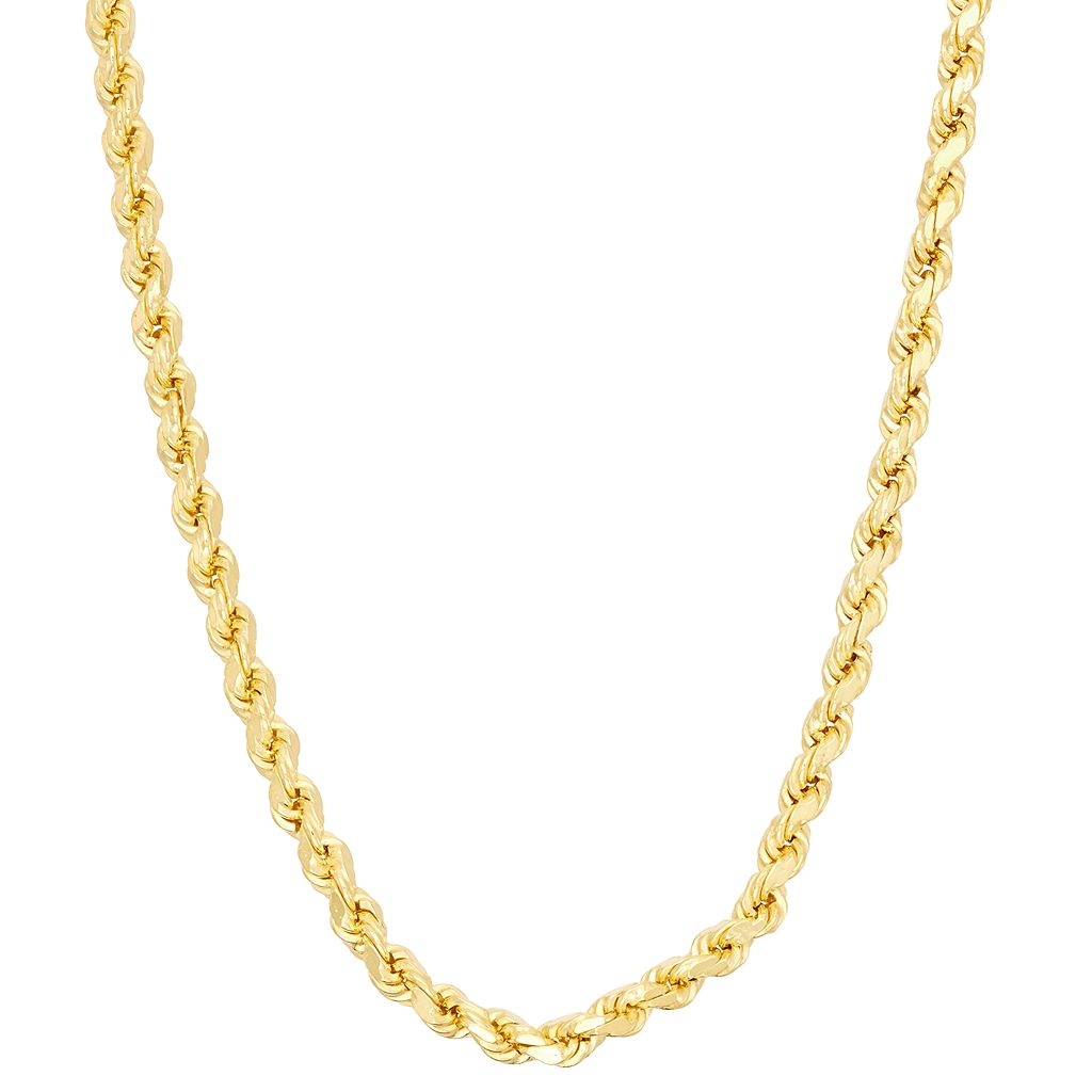 Sterling Silver Rope Chain Necklace - 24 in.