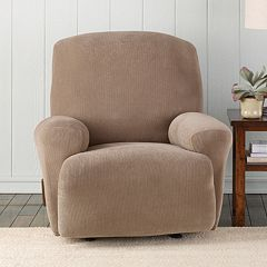 Sure Fit Stretch Pixel Corduroy Recliner Slipcover