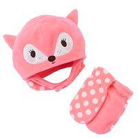 Toddler Jumping Beans® Fleece Hat & Mittens Set