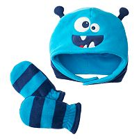 Toddler Jumping Beans® Embroidered Fleece Hat & Mittens Set