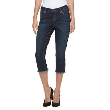 Petite Jennifer Lopez Frayed Capri Jeans