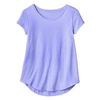 Girls 7-16 SO® Short Sleeve Curve Hem Tee