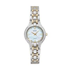 Seiko Women's Core Diamond Stainless Steel Solar Watch - SUP335