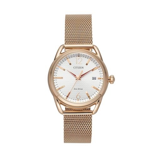 Drive from Citizen Eco-Drive Women's LTR Stainless Steel Mesh Watch - FE6083-72A