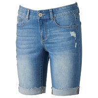Juniors' SO® Rolled Denim Bermuda Shorts