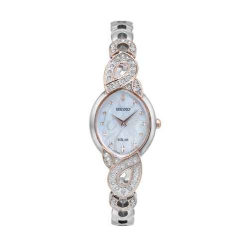 Seiko Women's Core Crystal Stainless Steel Solar Watch - SUP340