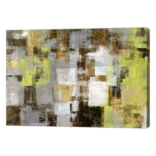 Metaverse Art Forest in Springtime Canvas Wall Art