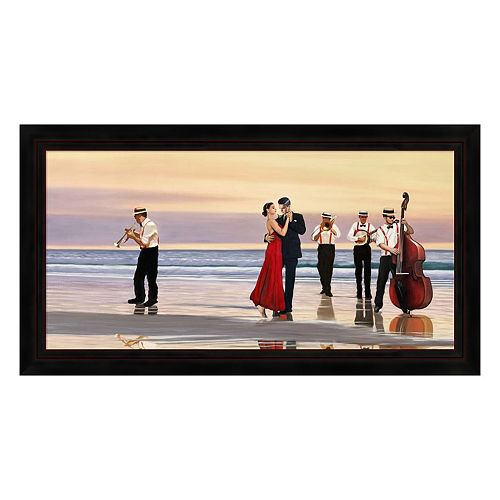 Metaverse Art Romance on the Beach Framed Canvas Wall Art