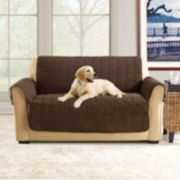 Sure Fit Ultimate Waterproof Suede Loveseat Cover