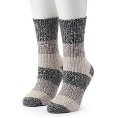 Women's Columbia 2-pk. Marled Stripe Crew Socks