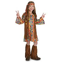 Kids 60's Hippie with Fringe Costume