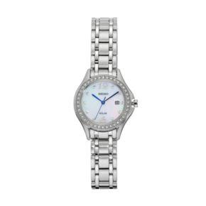Seiko Women's Core Crystal Stainless Steel Solar Watch - SUT311