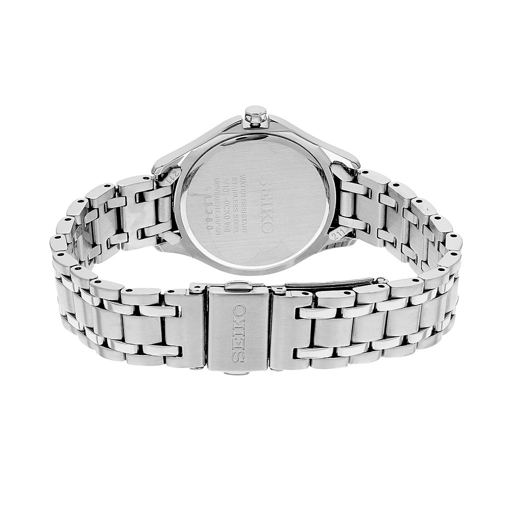 Seiko Women's Core Crystal Stainless Steel Solar Watch - SUT311