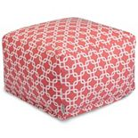 Majestic Home Goods Links Indoor / Outdoor Pouf Ottoman