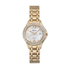 Seiko Women's Core Crystal Stainless Steel Solar Watch - SUT314