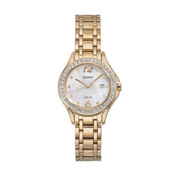 Seiko Women's Core Crystal Stainless Steel Solar Watch - SUT314