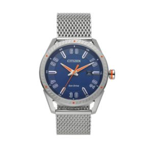Drive from Citizen Eco-Drive Men's CTO Stainless Steel Mesh Watch - BM6990-55L