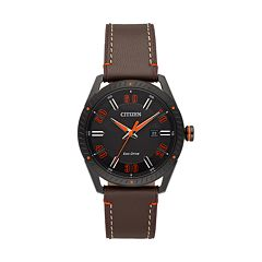 Drive from Citizen Eco-Drive Men's CTO Leather Watch - BM6995-19E