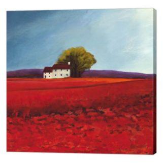 Metaverse Art Field of Poppies Canvas Wall Art