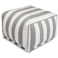 Majestic Home Goods Vertical Stripe Indoor / Outdoor Pouf Ottoman