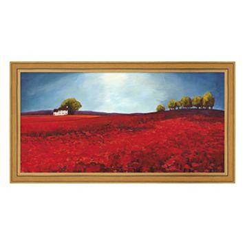 Metaverse Art Field of Poppies Framed Canvas Wall Art