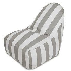 Majestic Home Goods Vertical Stripe Indoor / Outdoor Kick-It Chair
