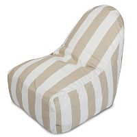 Majestic Home Goods Vertical Stripe Indoor / Outdoor Kick-It Chair