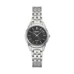 Seiko Women's Slimline Stainless Steel Solar Watch - SUP343