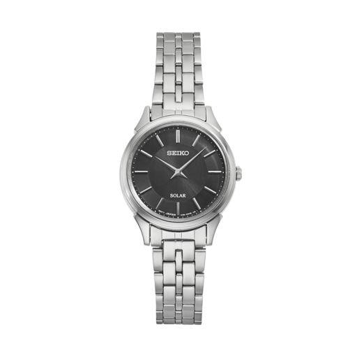 Seiko Women's Slimline Stainless Steel Solar Watch - SUP343