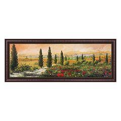 Metaverse Art Il Viale dei Cipressi Framed Canvas Wall Art