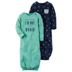 Baby Boy Carter's 2-pk. Space-Themed Sleeper Gowns