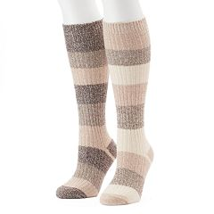 Women's Columbia 2-pk. Striped Knee-High Socks