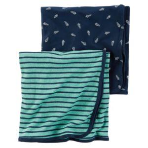 Baby Boy Carter's 2-pk. Rocket & Striped Blankets
