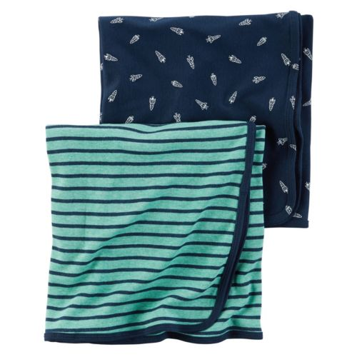Baby Boy Carter's 2-pk. Rocket & Striped Blankets