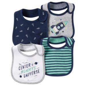 Baby Boy Carter's 4-pk. Space-Themed Bibs